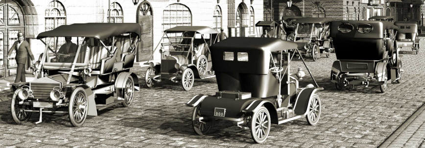 Frühere Elektroautos 1920 in New York
