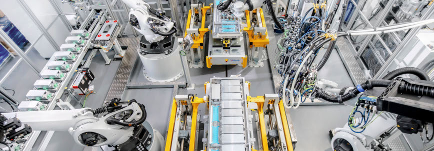 Production of batteries for electric cars in a Webasto factory in Schierling Germany